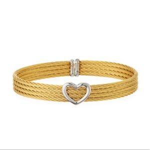 Alor Heart Cuff Gold Bracelet